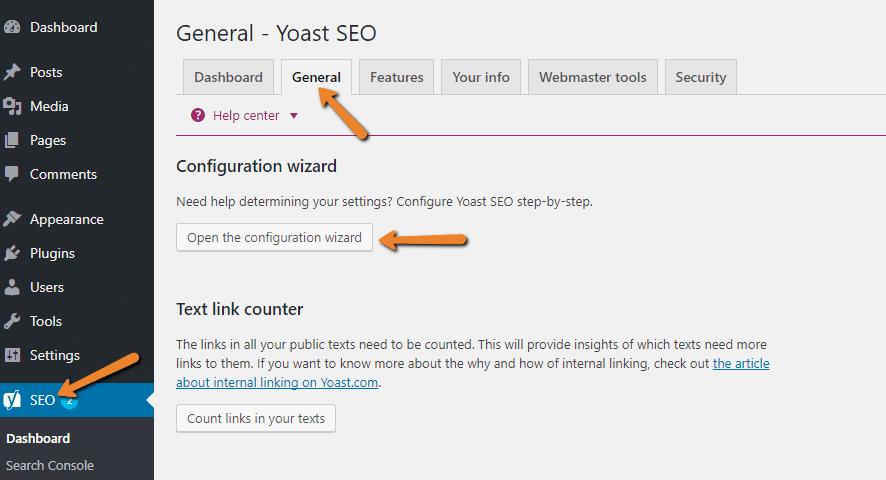 launch yoast wizard