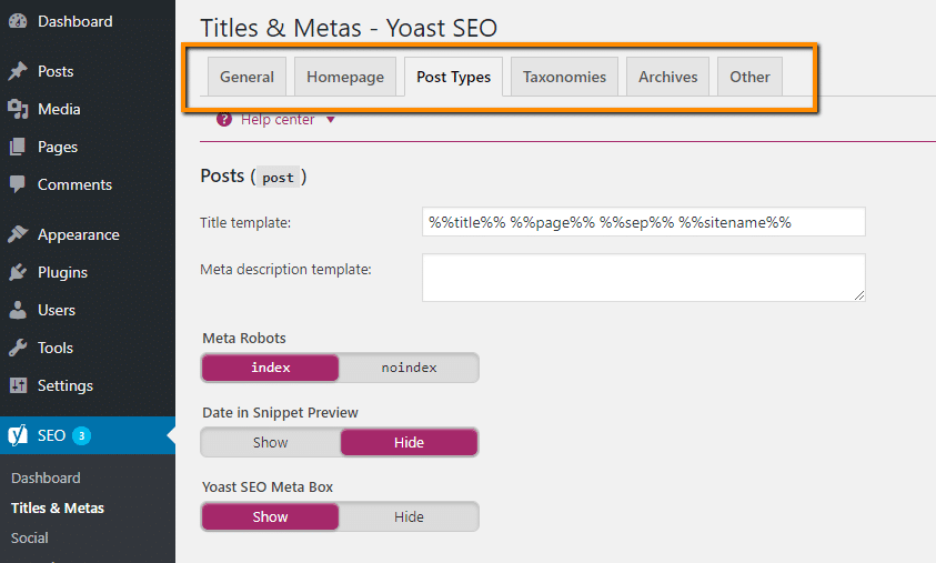 titles and metas in Yoast seo