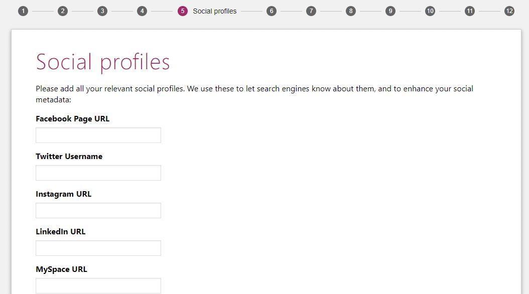 yoast settings for social profiles