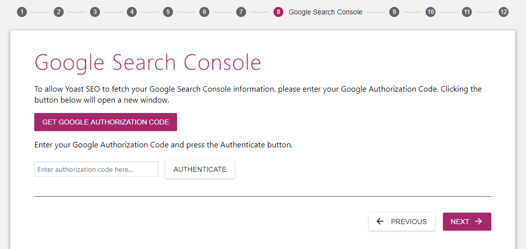 google search console in yoast