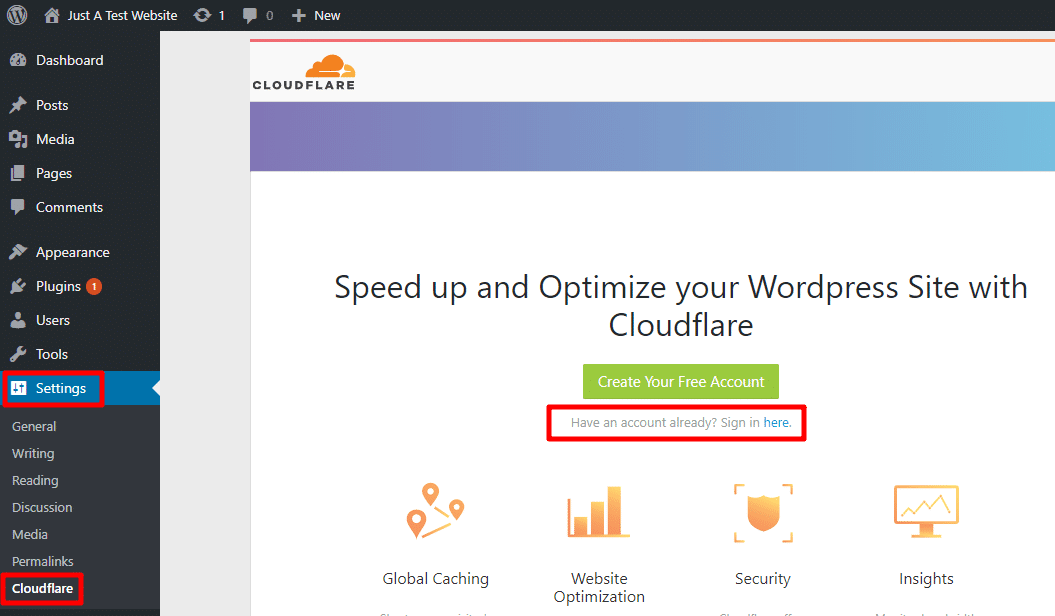 configure cloudflare wordpress plugin