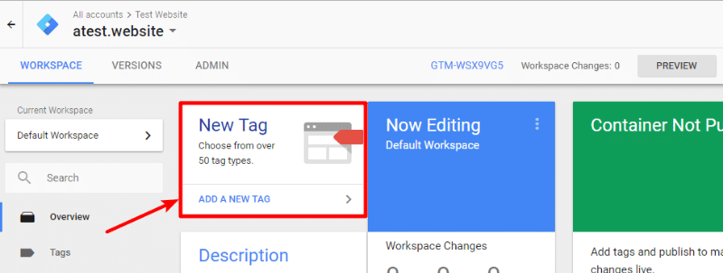 create new tag